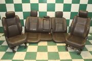 09-12 Ram Issue Longhorn Brown Seats Dual Power Buckets Heated Cooled Backseat