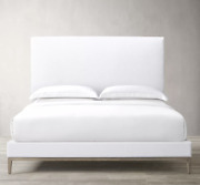 Italia King Size Non-tufted Fabric Panel Bed From Restoration Hardware