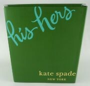 New Kate Spade Two Of A Kind His Hers Beer Glasses Set Nib Wedding Etched Lenox