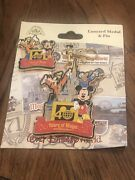 Disney Parks Wdw Magic Kingdom 40th Anniversary Mickey Mouse Lanyard Medal And Pin