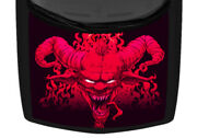 Horn Devil Flame Pink Illustrated Truck Hood Wrap Vinyl Car Graphic Decal