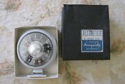 Vintage Airguide Altimeter, Model 608c,white 0-15,000 Feet Made In Usa Like New