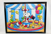 Peanuts Circus Ring Master Snoopy Puzzle Charles M. Schulz Framed 24 X 19