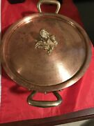 Ruffoni 4.75qt Hammered Copper Stock Is An Artichoke Finial Potmade In Italy