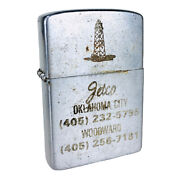 Vintage 1940and039s/50and039s Jetco Oklahoma City Oilfield Brushed Chrome Lighter Korea