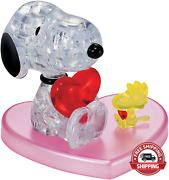 Bepuzzled 3d Crystal Puzzle - Snoopy Loves Woodstock Heart Official Peanuts Puzz