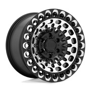 Black Rhino Lby 17x9.5 8x180 -18 125.10 Gloss Black W/ Machined Face And Milling