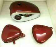 Bsa Gold Star 4 Gallon Petrol Gas Tank Candy Apple Red With Oil Tank And Toolbox
