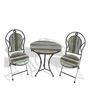 Backyard Expressions Farmhouse Bistro Set | 3 Pc | Outdoor Table And Chairs |
