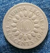 1964 Sierra Leone Ten 10 Cents Coin Unity Freedom Justice