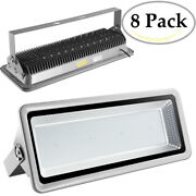 8x 800w Led Flood Lights Cool White Bright Waterproof Ip65 Outdoor Path Fixtures