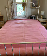 Vintage Pink Earlyand039s Witney Point Wool Trade Camp Blanket Made In England