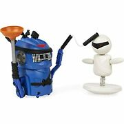 Ninja Bots 1-pack Hilarious Battling Robot Blue With 3 Weapons Trainer And
