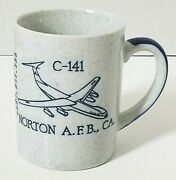 Norton Afb Air Force Base Lockheed C-141 Starlifter Fighter Jet Coffee Cup Mug