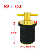 1inch Rubber And Brass T-handle Twist-turn Plug Hull Livewell Marine Assembly