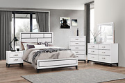 New Modern White Queen King Full Twin 5pc Bedroom Set Rustic Furniture B/d/m/n/c