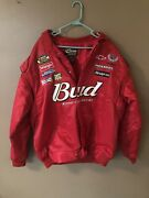 Chase Authentics Budweiser King Of Beers Nascar Bomber Jacket Adult 2xl Red