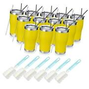 20oz Stainless Steel Insulated Tumbler Pack Bulk Travel Mug With 12 Yellow