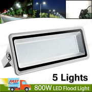 5x 800w Led Flood Light Cool White Super Bright Waterproof Outdoor Security Lamp