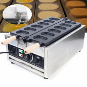 Professional Electric Egg Bread Maker 6pcs Nonstick Waffle Cooking Machine 3000w