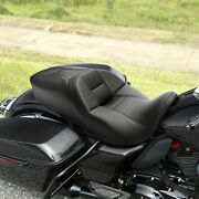Black Rider Driver Passenger Seat Fit For Harley Touring Street Tri Glide 09-21