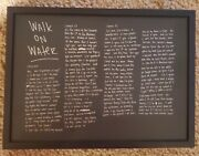 Eminem Autographed Walk On Water Plate W/ Engraved Black Nickel Dog Tags