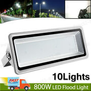 10x 800w Led Flood Light Cool White Superbright Waterproof Outdoor Security Lamp