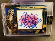 Mickie James - 2020 Topps Wwe Fully Loaded Blue Parallel Kiss Auto Ssp Andrsquod 1/10