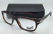 New Persol 👓 Reading Glasses 3073-v 24 52-18 Tortoise And Silver Frames Readers