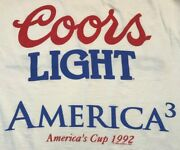Men's Vintage 90's 1992 O'neill Americas Cup America 3 Coors Light Shirt Size L