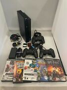 Sony Slim Playstation 2 - Scph-3001 W/ 2-3 Remotes + 2 Memory Cards + 5 Games