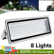 8x 800w Led Flood Light Cool White Super Bright Waterproof Outdoor Security Lamp