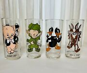 Warner's Brothers 1973 Pepsi Collectors Glasses Set Of Four