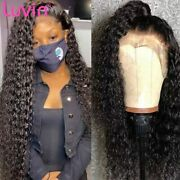 13x4 Curly Deep Wave Lace Front Human Hair Wigs Brazilian Water Wave Frontal Wig