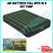 Camping Air Mattress Full Size Antimicrobial Coating With In And Out Pump
