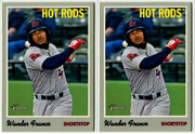 2019 Topps Heritage Minors 1 Wander Franco Rookie Lot Hot Rods + Tampa Bay Rays
