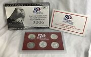 2006 Us Mint Silver 50 State Quarter Proof Set With Box And Coa