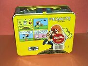 Peanuts Lunchbox W/ Thermos And Insert Schulz Charlie Brown Snoopy 1965 Unused
