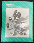 Gm Ac-delco Emission Control Components Product Information Booklet Manual