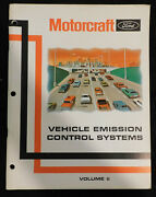 Ford Mercury Lincoln Motorcraft Vehicle Emission Control Systems Service Manual