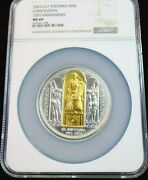 2003 Andorra Silver 50 Diners Constitution 10th Anniv Ngc Ms 69 Rare Top Pop 1