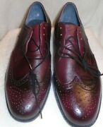 Endicot Johnson Wing Tips Red 10.5 Eee Nwb