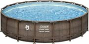 Coleman Deluxe Series 18 Ft X 48 In Power Steel Frame Round Above Ground Pool