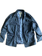 Menand039s J. Steger Gray Cross And Heart Jacket With Jesus On Lining Size Xl