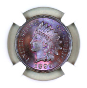 1899 Ms66 Bn Ngc Indian Head Penny Premium Quality Monster Toning