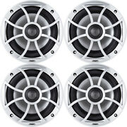 Wet Sounds Bundle 2 Pair Xs 650 Series Silver Grill 6.5 Speakers