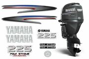 Yamaha 225 4 Stroke Hp Decal Kit Outboard Engine Graphic 225hp Sticker Usa