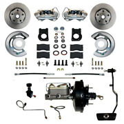 Fc0002 3405a Leed Brakes Power Front Kit With Plain Rotors And Zinc Plated