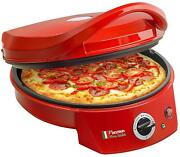 Bestron Apz400 Ovens Toasters Pizza Red 1800w - Ø 10 5/8in With Thermostat