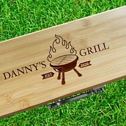 Barbecue Set. Personalized Engraved Bbq Grill Tools With Carrying Case